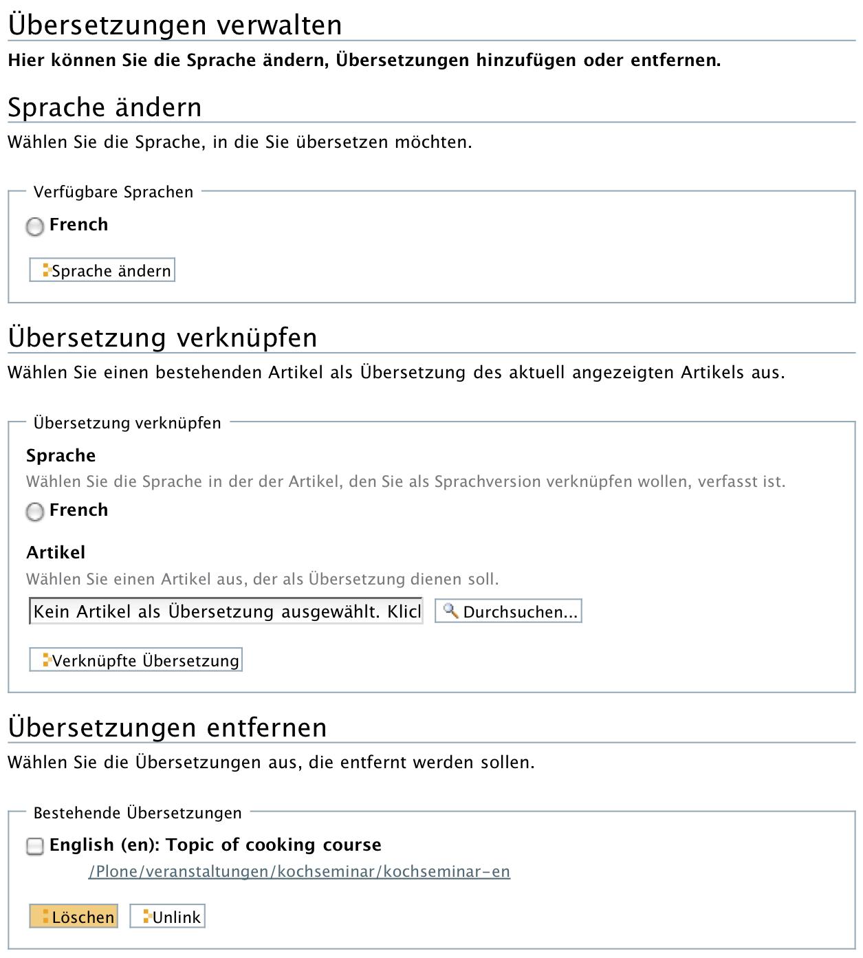 Mehrsprachigkeit Mit Linguaplone Plone Handbuch Universität Bonn